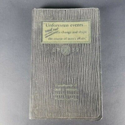 Vintage 1939 Mens Daily Planner The Maryland Casualty Company Unforseen Events