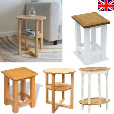 Small Side Table Wooden Magazine Rack Coffee/Lamp/End/ Storage Solid Oak Stand