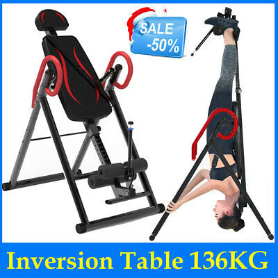 Inversion Table Back Therapy Fitness Pain Hang Gravity Relief Heavy Duty |New|