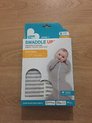 NEW Love to Dream Original Baby Swaddle Up Zip Up 1Tog Small Grey -FREE SHIPPING