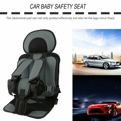 Portable Car Baby Safety Seat Thickening Sponge Car Chair with Safety Harness Sz