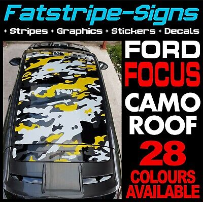Ford Focus Mk3 Camo Roof Graphics Stripes Stickers Decals Zetec St Rs Turbo 2.0