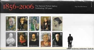 GB 2006  150th Anniversary of National Portrait Gallery. Presentation Pack