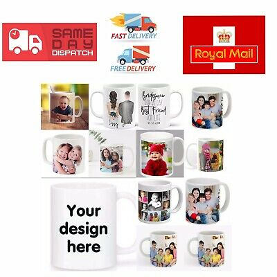 Personalised Mugs/Cups with Photo/Pictures,Texts and Collage