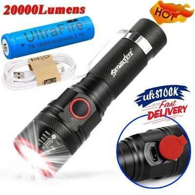 Mini Rechargeable USB Super Bright LED Torch With Beam Focusing 18650 Flashlight