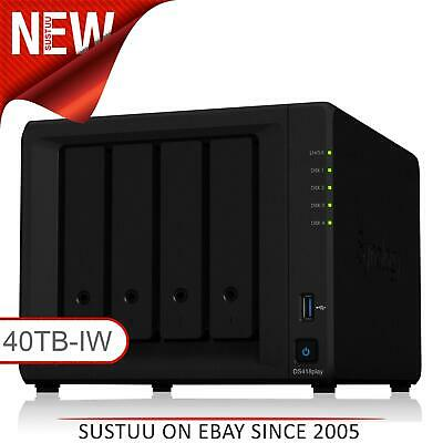 NEW! Synology DiskStation DS418play 40TB (4 x 10TB SGT-IW) 4 Bay Desktop NAS