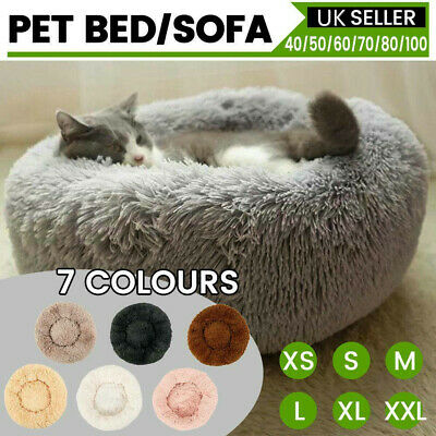 Dog Pet Cat Calming Bed Large Mat Comfy Puppy Washable Fluffy Cushion Plush Soft