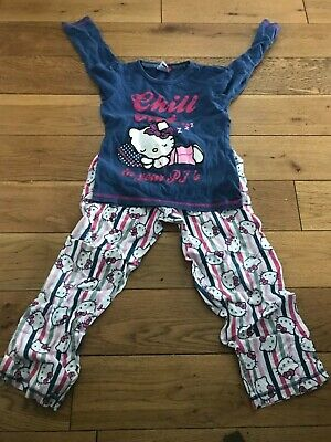 Girls Hello Kitty Long Sleeve Pyjamas Set  6 - 7 Years