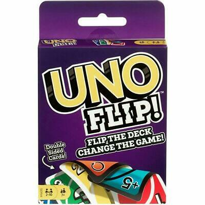 UNO Flip Game Cards Mattel Family fun Games Flip The Deck Bundled Dos Party Gift