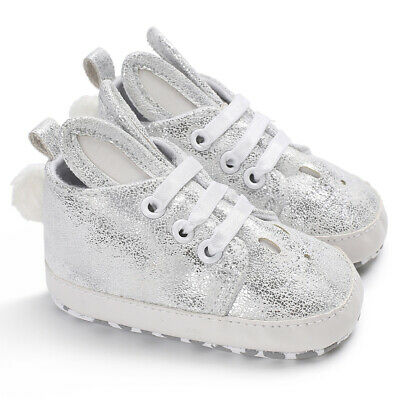 Toddler Kid Girl Cute Rabbit Ear Sneakers Shiny Faux Leather Baby Shoes Fashion