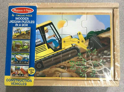 48 pcs Melissa /& Doug Wooden Construction Building Set in a Box 5151