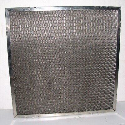 (4) Aircon metal mesh pleated filters 24x24x4