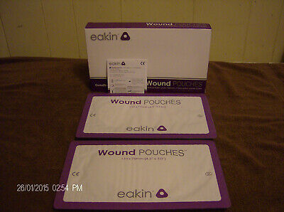 Box Of 10 Eakin Wound/ Drainage Pouches 4.3'' X 3.0'' Ref. #839261  New