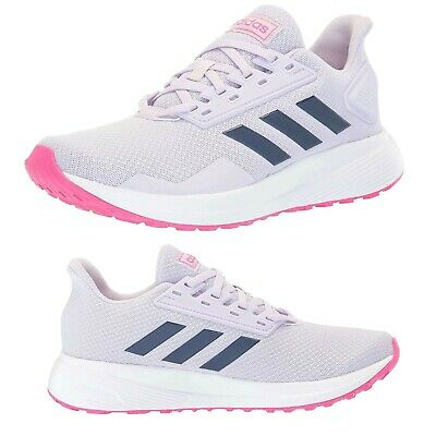 NEW Adidas Girls Athletic Sneakers Duramo 9 Kids Lace-Up Shoes
