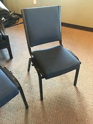 Blue church chairs w/ hymnal and book pocket in rear (150 available)