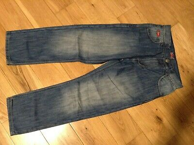 9-10 Years Boys Designer LEE COOPER Straight Blue Stone Washed Denim Jeans