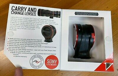 Peak Design Lens Changing Kit Adapter Photography for Sony E Mount LK-S-2