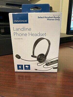 Insignia Landline Phone Hands-Free Headset with Mic RJ9 Connector - NS-MCHMRJ9P2