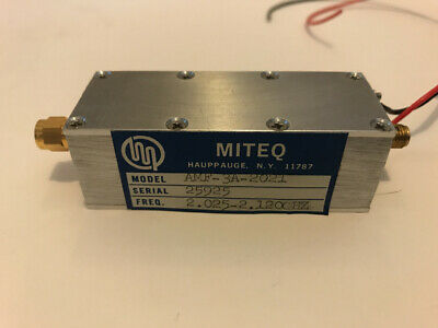 Miteq Amplifier Amf-3A-2021 Frequency 2.025-2.1200 Hz