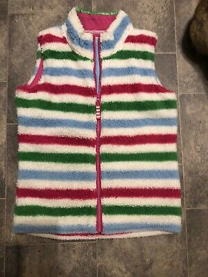 Girls Age 11-12 Year Joules Body Warmer / Gilet Striped