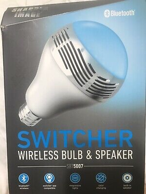Sharper Image SBT 5007 LED Bulb with Bluetooth Speaker **NEW OPEN BOX**