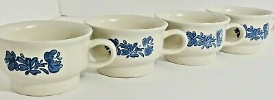 Vintage Dishes Pfaltzgraff Yorktowne  4 Coffee Cups Vintage Mugs *MINT*