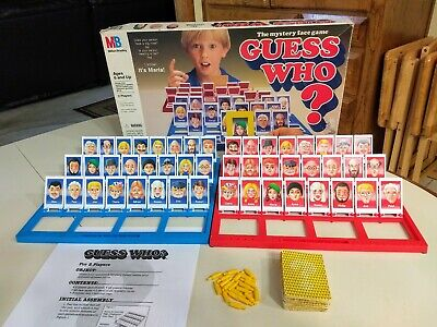 1991 Guess Who Board Game Milton Bradley 100% Complete FAST SHIPPING