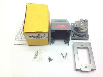 Hubbell HBL2730AR Angle Locking Electrical Receptacle 4CV48 30A 3 Phase 480V