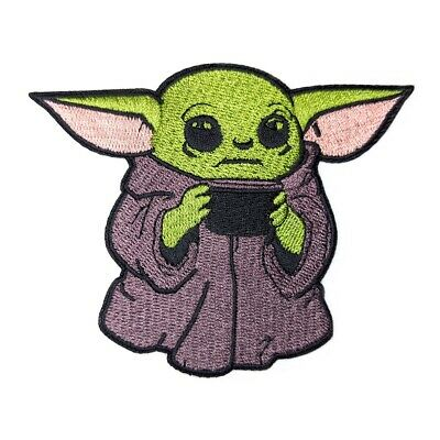 Baby Child Yoda Mandalorian Embroidered Patch 3.5 inch - Iron on Sew on - MY51