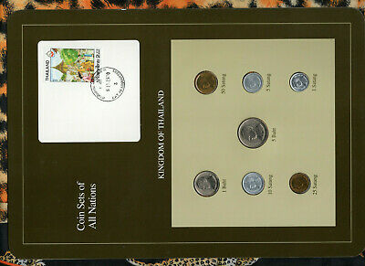Coin Sets of All Nations Thailand 1988 UNC Scarce Reformulated Display