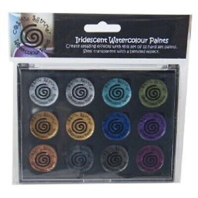 COSMIC SHIMMER IRIDESCENT Watercolour Paints x 12 DECADENT & PRECIOUS METALS