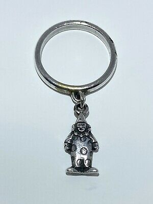 James Avery Retired Sterling Silver Clown Charm Dangle Ring Size 4.5