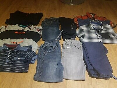 Boys Clothes Bundle Age 6-7 Years Shirts, Zip up hooded top, Jeans, Joggers etc