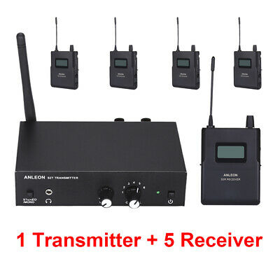 ANLEON S2 Wireless Stereo Personal In-ear System UHF 1 Transmitter + 5 Receivers