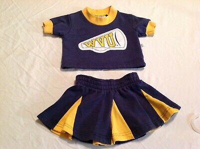 Toddler size 2T girls skirt and top WVU CHEERLEADING OUTFIT COSTUME Third Street