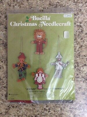 Bucilla DOROTHY & FRIENDS Jeweled Holiday Ornaments 2113 UNOPENED
