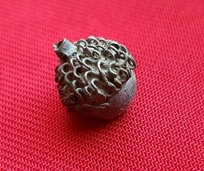 OAK ACORN . Ancient Celtic Druid amulet pendant . SILVER - 300 BC