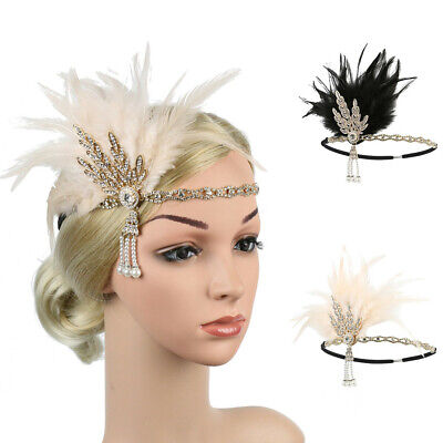 Women's Elegant Hat Strap Flower Feather Party Hat Hair Clip Headband Accessory