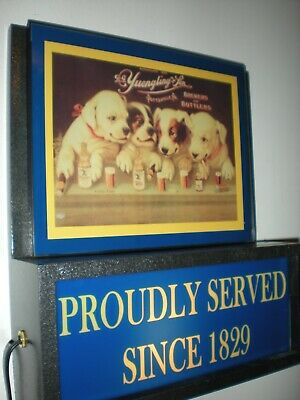 Yuengling Dogs Beer Bar Man Cave Advertising Lighted Sign