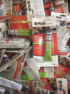 100 Tubes Of Devcon Weldit All Purpose Household Cement Epoxy Glue Clear S-182