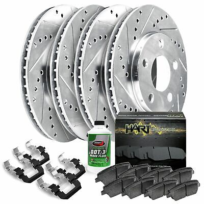 Black Hart *DRILLED /& SLOTTED* Disc Brake Rotors F2843 2 FRONTS