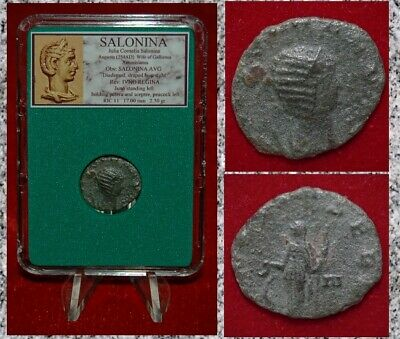 Ancient Roman Empire Coin SALONINA  Antoninianus IVNO REGINA