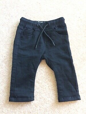 Baby boys Next black skinny jeans 3-6 months
