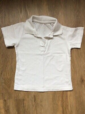 Tesco girls school PE polo white t-shirt 6 - 7 years
