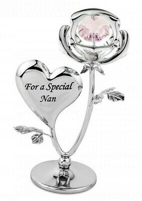 Crystocraft Special Nan Rose Crystal Ornament With Swarovski Elements Gift Boxed