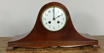 Clock Mantel Chimes Edwardian 1900 Napoleon Hat Made England Serviced Working