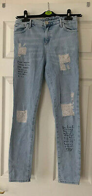 Girls Jeans By River Island Age 12 Yrs Fab Motif Jeans