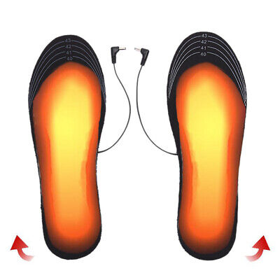 1 Pair USB Heated Shoe Insoles Foot Warming Pad Winter Feet Warmer Sock Pad  VVX