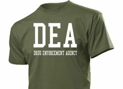 Camiseta Divertida Dea Drug Enforcement Agencia S-XXL Nsa Cia Fbi Police