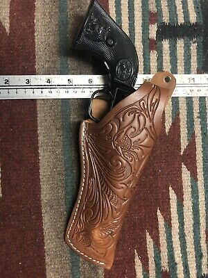 """Fits Ruger Wrangler Heritage Rough Rider 22Cal 4.75"""" Thumb Break Holster Floral"""